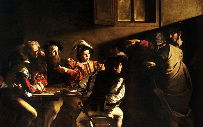The_Calling_of_Saint_Matthew-Caravaggo_1599-1600