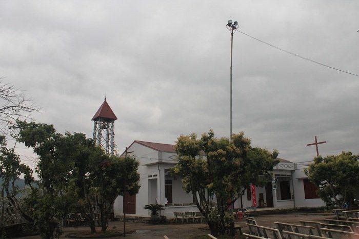 Nhà thờ Giáo họ Chũ. Chụp dịp Tuần Thánh 2016
