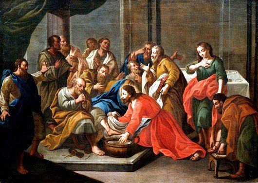 Jesus-Christ-washing-the-disciples-feet-Painting-unknown-Italian-painter
