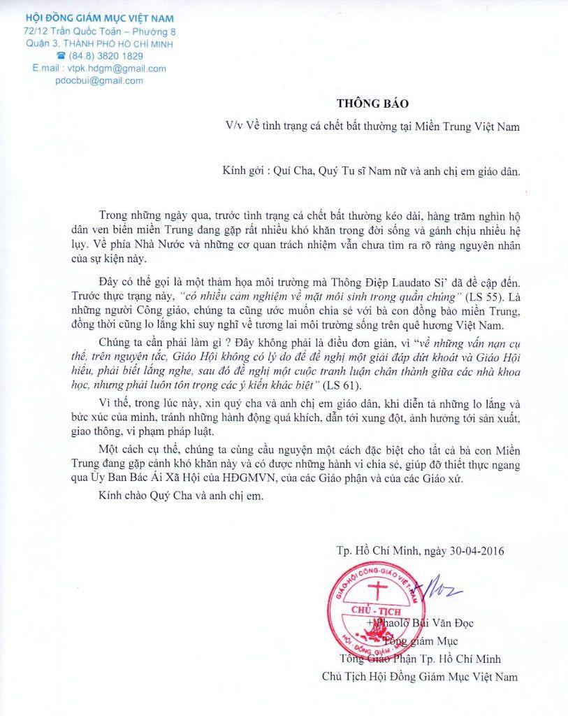ThongBao_CaChetTaiMienTrung_30Apr2016
