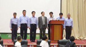 Đại hiện tập đoàn Fomosa Hà Tĩnh xin lỗi trong buổi họp báo, chiều 30/6/2016 tại Hà Nội