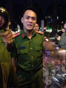 Viên công an Bùi Xuân Hải, quận 3, Tp. HCM đánh chị bán hàng tối 29.09.2016 gây lên dư luận trên mạng xã hội. Ảnh google