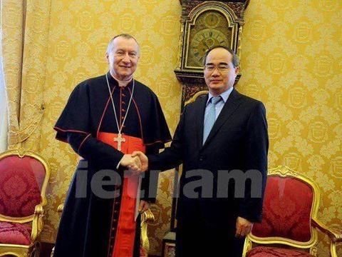 Đức Hồng Y Pietro Parolin, Quốc Vụ Khanh Tòa Thánh và Chủ tịch MTTQ Nguyễn Thiện Nhân, Việt Nam