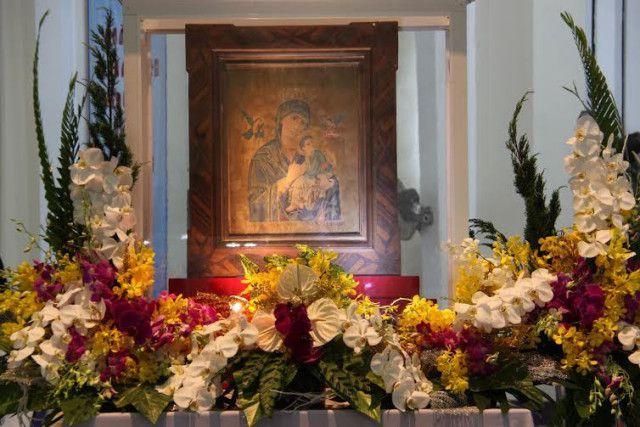 Bức linh ảnh Đức Mẹ Hằng Cứu Giúp tại nhà thờ La Mã, Bến Tre