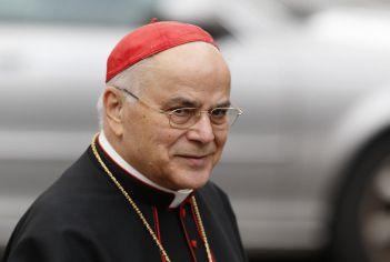 ĐHY người Bồ Đào Nha Jose Saraiva Martins tham dự buổi gặp mặt giáo đoàn thường niên tại Vatican hôm 7/3/2013. Ảnh: Paul Haring