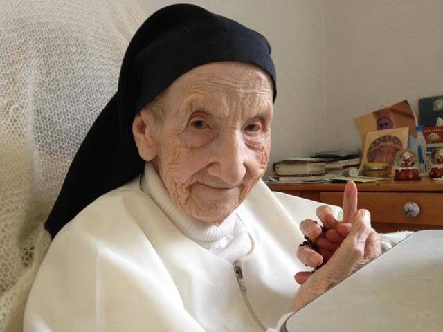 Sơ Marie Bernadette - nữ tu dòng Đaminh 110 tuổi.