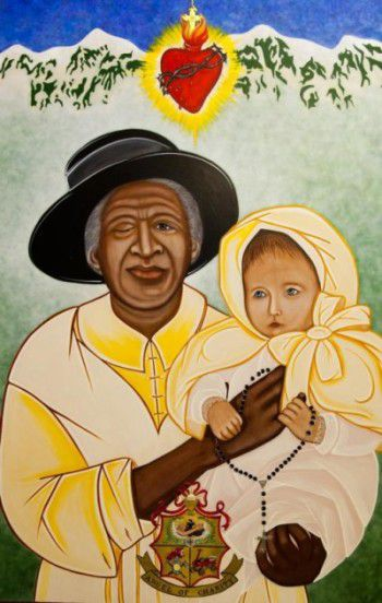 This image of Julia Greeley, a former slave who lived in Colorado, was commissioned by the Archdiocese of Denver by iconographer Vivian Imbruglia. During their fall general assembly Nov. 14-16 in Baltimore, the U.S. bishops in a voice vote approved Greeley's sainthood cause moving forward. (CNS photo/iconographer Vivian Imbruglia, courtesy Archdiocese of Denver) See BISHOPS-SAINTS-CAUSES Nov. 16, 2016.