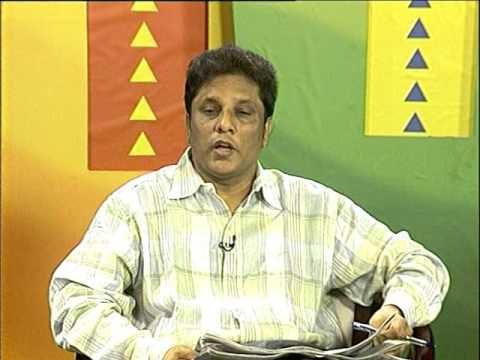 Nhà báo Wickremetunge Lasantha trên đài truyền hình MTV Sri Lanka điểm tin. Ảnh: Youtube