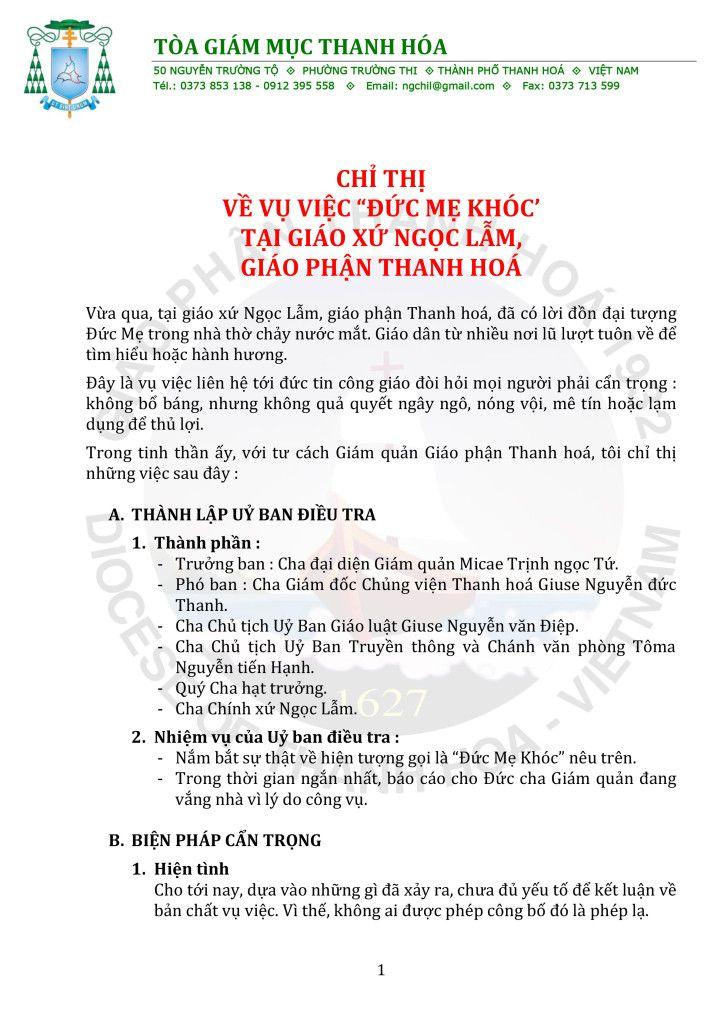 CHI THI VE VIEC DUC ME CHAY NUOC MAT TAI GX NGOC LAM-1