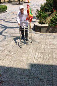 Cha Tađêô Nguyễn Văn Lý tại sân Nhà Chung