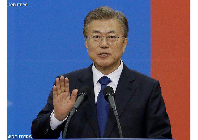 Tổng thống Hàn quốc Moon Jae-in - REUTERS