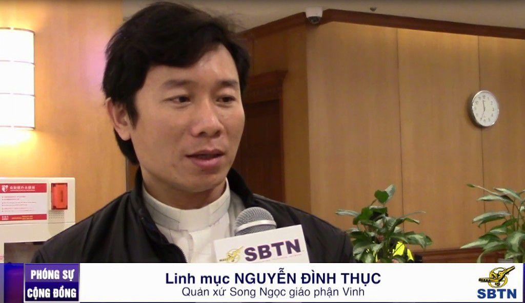 Cha Gioan.B Nguyễn Đình Thục. Ảnh trên video của SBTN