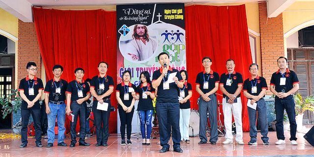 Hình ảnh trong Ngày truyền thông Công giáo của Giáo Tỉnh Hà Nội diễn ra tại Giáo phận Bùi Chu. Ảnh: website giáo phận Bùi chu