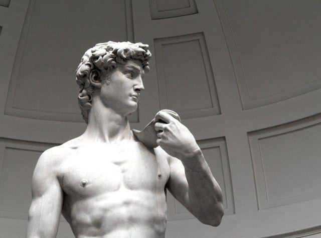 Phần trên của bức tượng David do Michelangelo điêu khắc từ năm 1501 đến 1504
